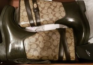 Coach Brown Rainboots